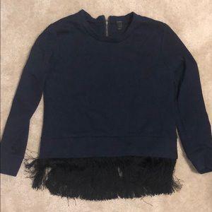 J Crew Fringe sweatshirt, size S